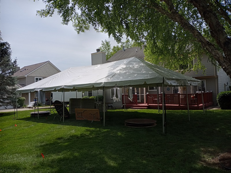 20 WIDE TRADITIONAL FRAME TENT
